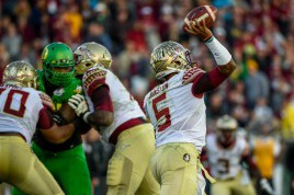 Winston likes to stay in the pocket and let his O-Line protect him.