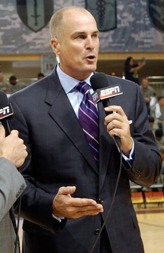 """Jay Bilas' audition tape for the role of """"Cranky,"""" in The Seven Dwarves call a basketball game."""