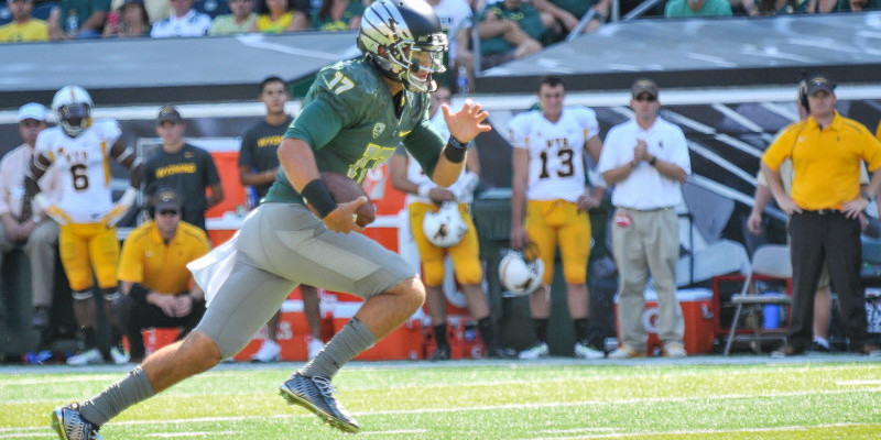 Jeff Lockie likely will be the starting quarterback for the Ducks this fall.