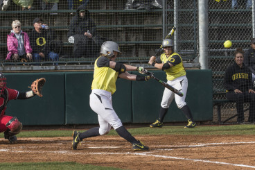 Jenna Lilley takes a swing at the plate.