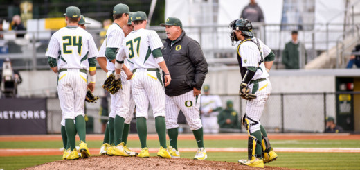 The University of Oregon Ducks baseball team fell to the UCLA Bruins 4-3 in the first of a 3 game series at PK Park in Eugene.