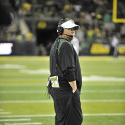 Chip Kelly looking on during the 2012 Football Season