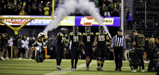 The Oregon Ducks defeat the Stanford Cardinal 45-16 at home and remain in the hunt for a Pac-12 title and National Playoff spot.