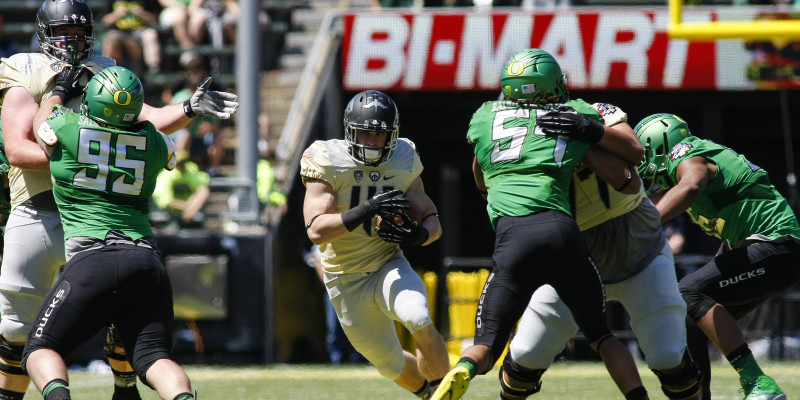 The offensive line will be a key factor to the Ducks success in 2015.