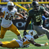 Royce Freeman Evades a Tackle