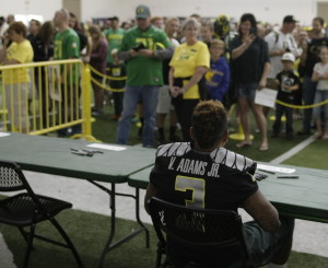 Fans are excited to see what Vernon Adams will do this year after he was named starter on August 28