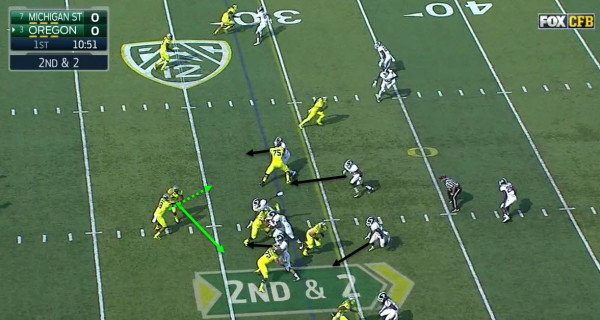 Mariota has to choose who can make a linebacker miss.
