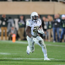 """Royce Freeman has continued to prove he is ready to be the """"go-to"""" guy in the Oregon offense"""