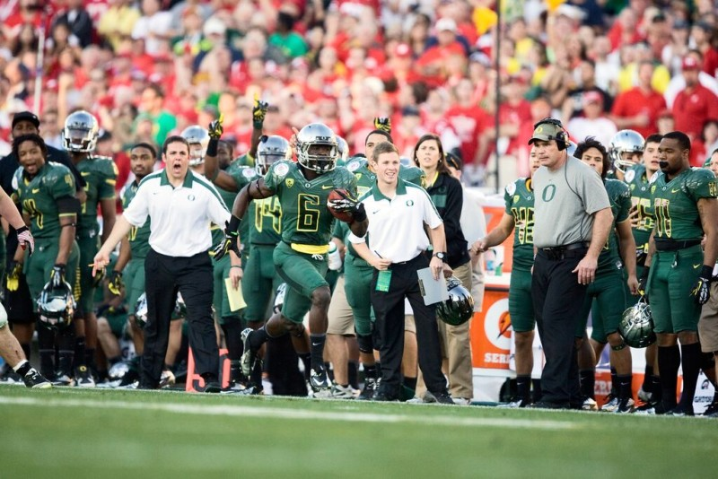 De'Anthony Thomas in the 2012 Rose Bowl, Oregon's only one-possession win over a quality opponent this decade.