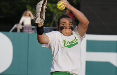 Cheridan Hawkins Throwing another incredible pitch during Friday's game