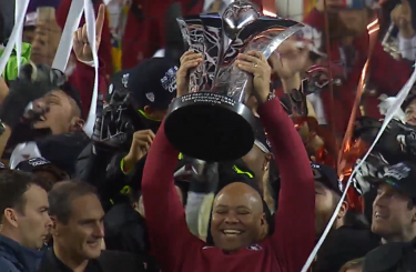 Only Oregon and Stanford have hoisted this trophy this century